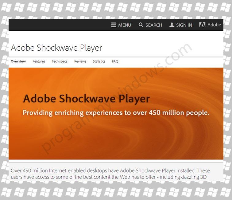 Adobe Shockwave Player | Бесплатные программы для Windows